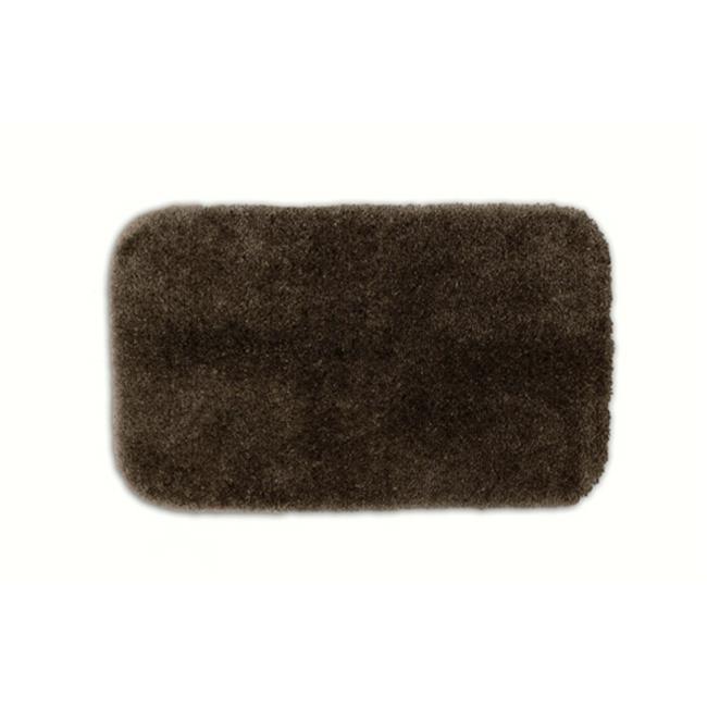 Garland Rug Finest Luxury Ultra Plush Washable Nylon Rug Chocolate