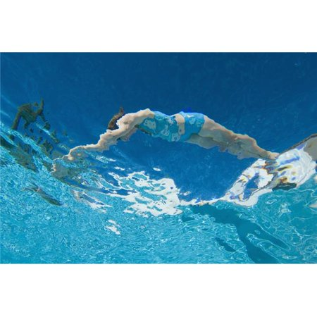 Posterazzi DPI1889171LARGE Underwater View of Woman Diving Into Pool Poster Print, 38 x 24 - Large - image 1 of 1