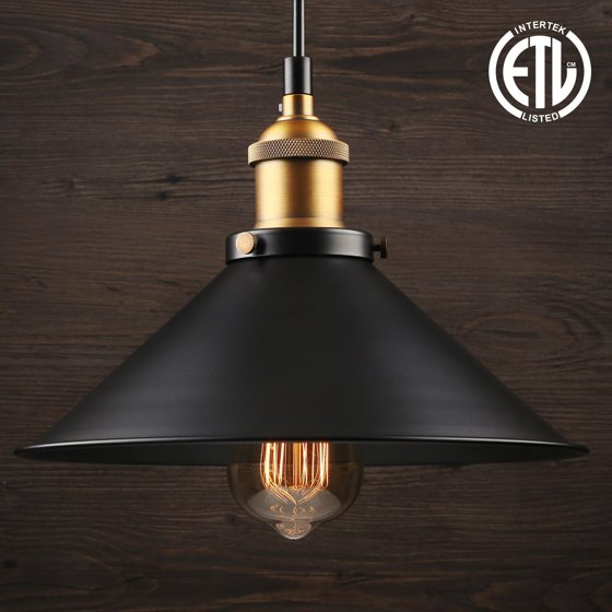Leonlite 3 Pack Industrial Pendant Lighting For Kitchen: 1 Light Industrial Hanging Pendant Light, Retro Vintage