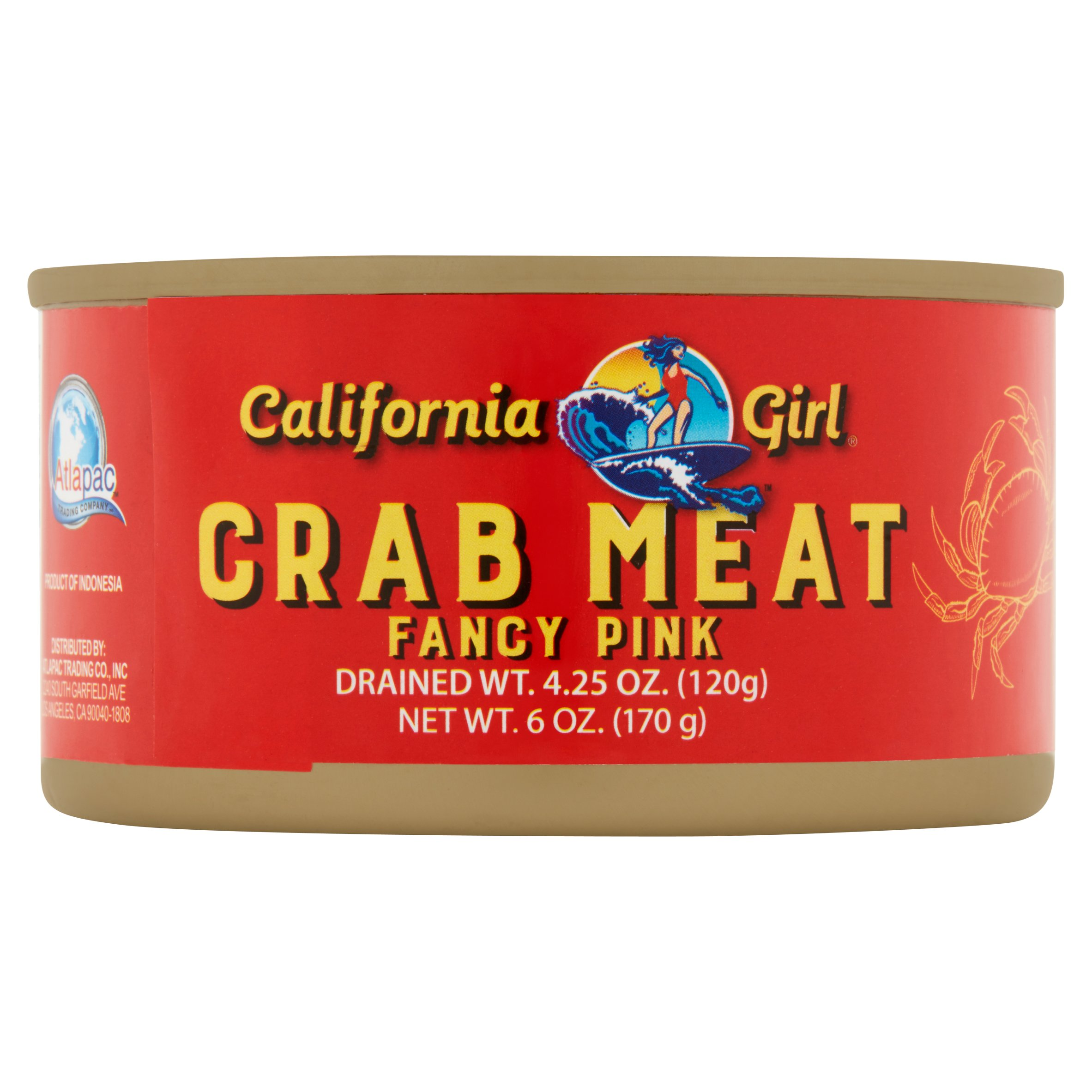 California Girl Fancy Pink Crab Meat, 6 oz by Atlapac Trading Co., Inc