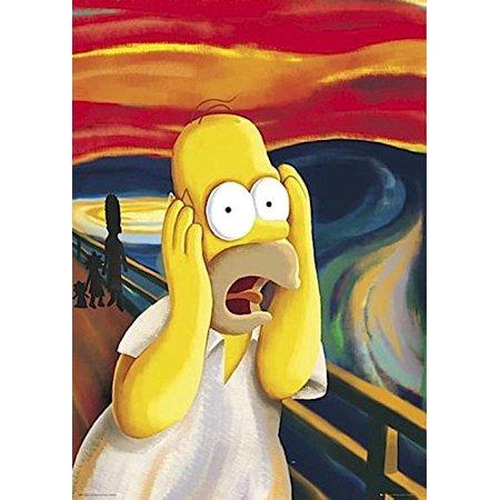 Simpsons Homer The Scream 36x24 TV Art Print Poster Matt Groening