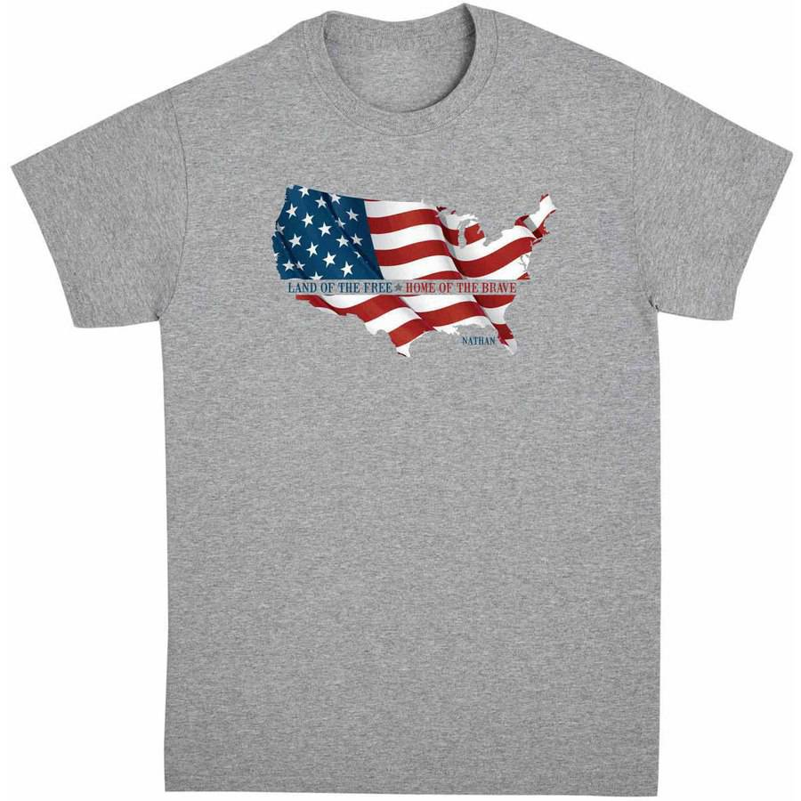 Personalized Land of the Free Men's Shirt, Available in Multiple Sizes