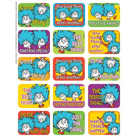DR SEUSS THING 1 AND 2 SUCCESS STICKERS - Dr Seuss Thing 1 And Thing 2