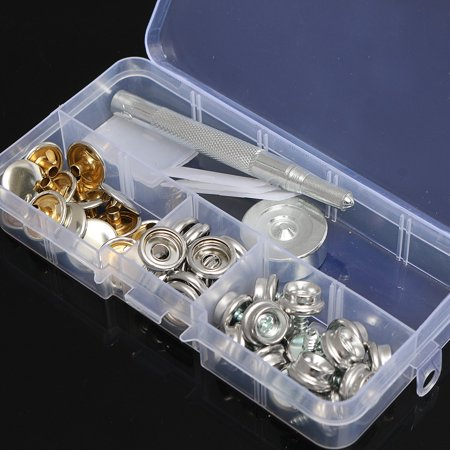 47pcs 10mm Stainless Steel Marine Canvas Fabric Snap Boat Cover screw Button & Socket Kit
