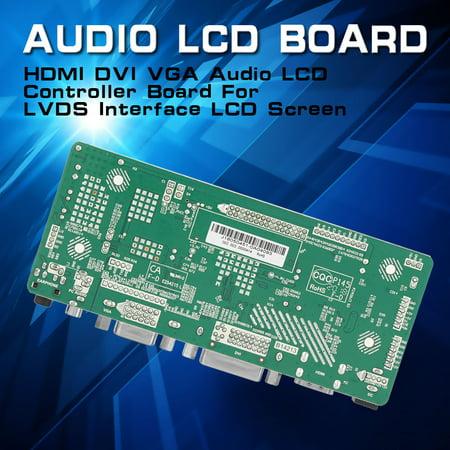 HDMI DVI VGA Audio LCD Controller Board Kit For DIY LCD Monitor, VGA LCD  Controller Board,LCD Controller Board