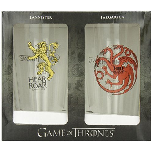 Dark Horse Deluxe Game of Thrones Pint Glass Set: Targaryen and Lannister by Dark Horse Comics
