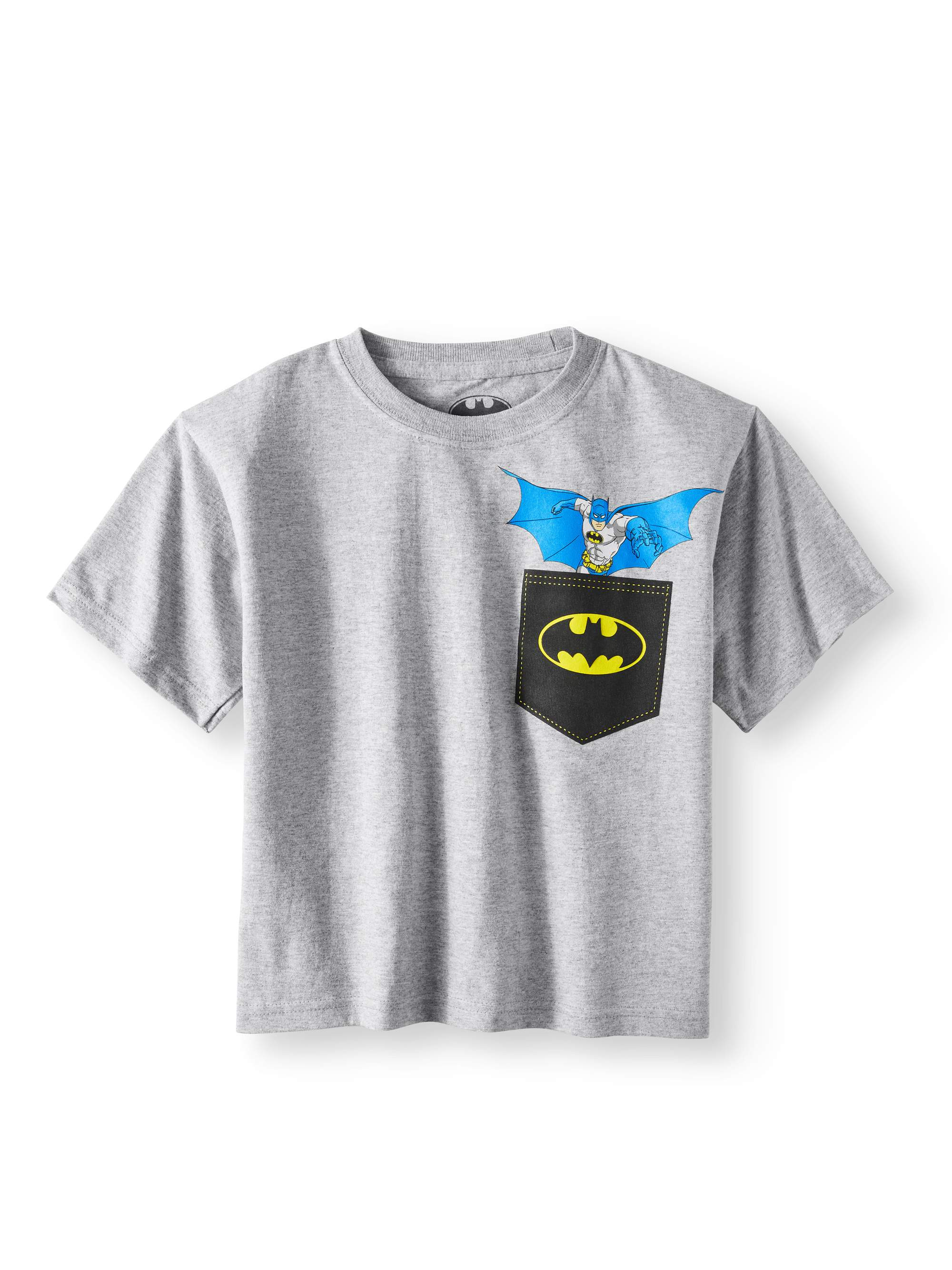Heather Gray Faux Pocket Short Sleeve Tee (Little Boys & Big Boys)