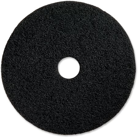 "Genuine Joe Black Floor Stripping Pad, 16"" Diameter, 5 pack, GJO90216"