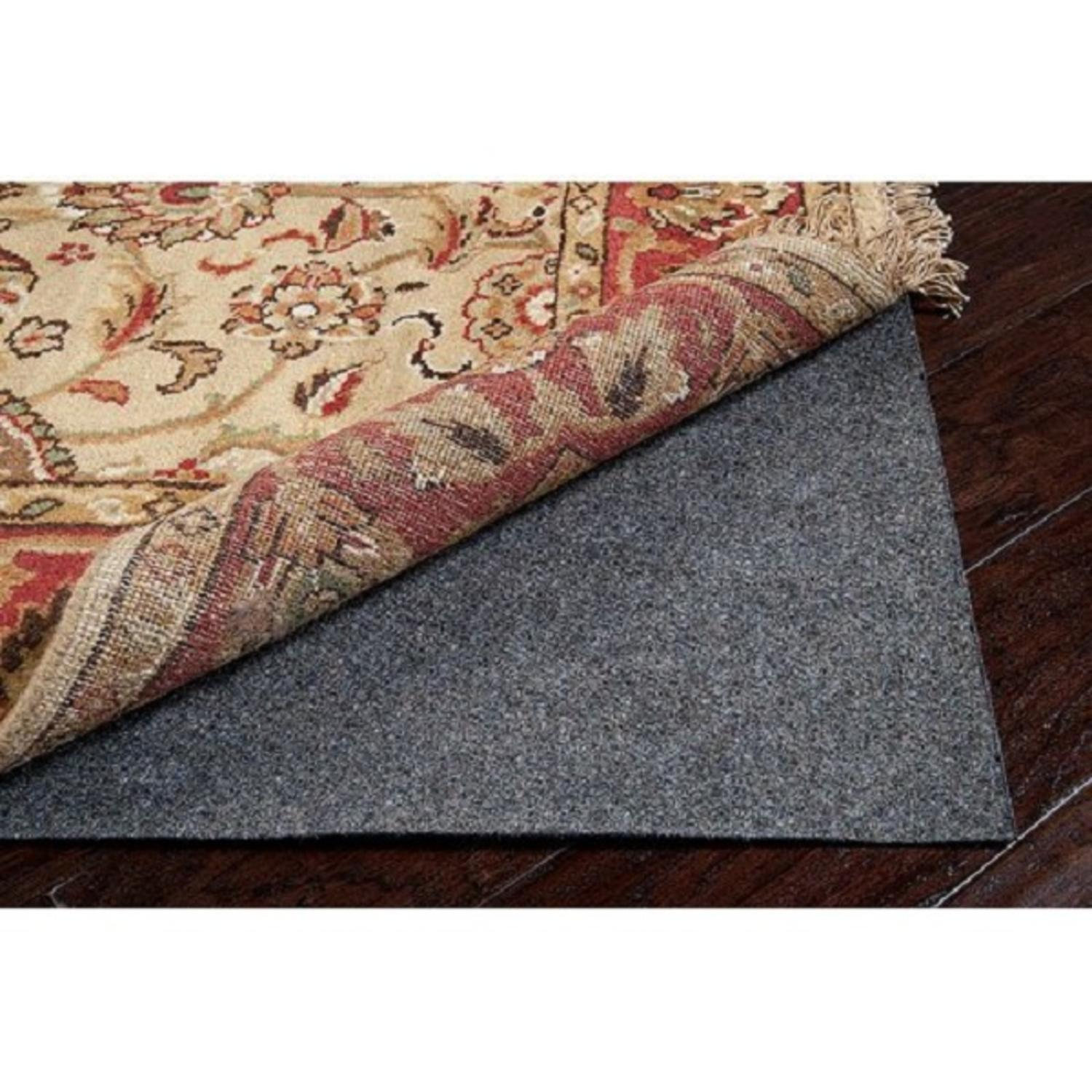 Gray Recycled Fiber Standard Reversible Felted Pad for an 8' x 10' Oval Area Rug