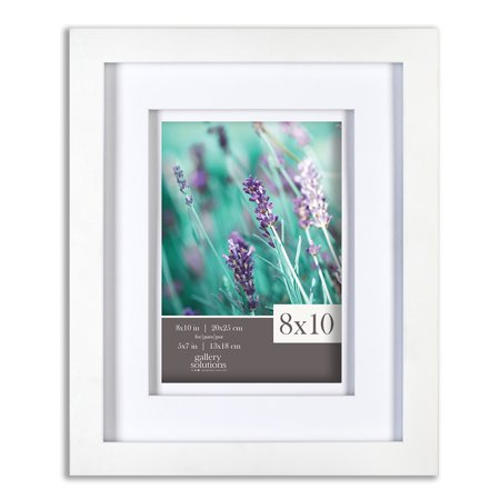 Cheap 8x10 Frames (8X10 WHITE FRAME, DOUBLE MATTED TO)