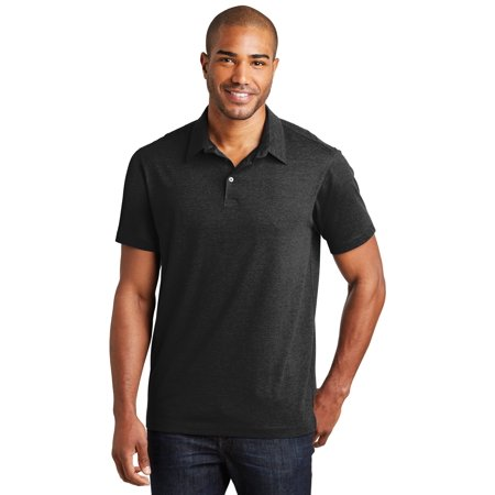 Port Authority K577 Meridian Cotton Blend Polo, Black, M