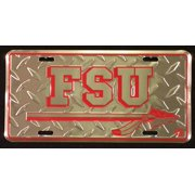 Florida State Univ Diamond Embossed License Plate