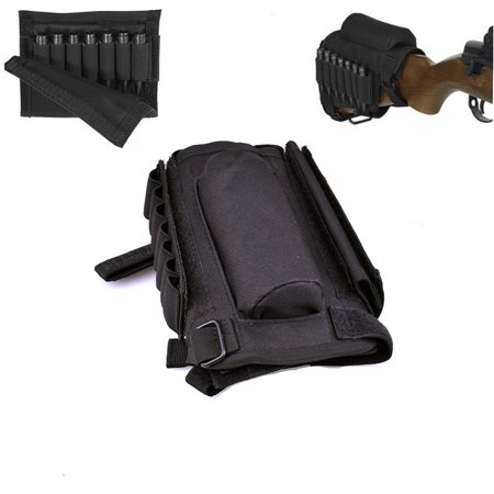 Buttstock Cheek Rest,Tactical Rifle Gun Buttstock Cheek Rest with Ammo Pouch Holder for .308 .300 Winmag, (Best 300 Blackout Ammo)