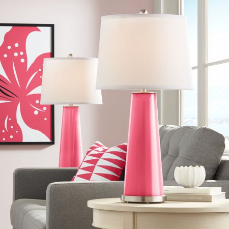 Color + Plus Eros Pink Leo Table Lamp Set of 2