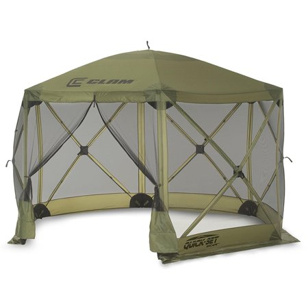 Clam Quick Set Escape Portable Camping Outdoor Canopy Screen + 3 Wind Panels