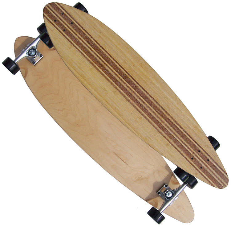BAMBOO PINTAIL COMPLETE LONGBOARD Skateboard FREE SHIP