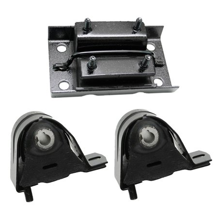 Jeep Wrangler Motor Mounts (K1933 Fits 1997-2006 Jeep TJ / Wrangler 2.4L 2.5L 4.0L Motor & Trans Mount Set 3pc : A2883, A2883,)