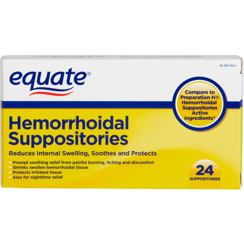 Equate Hemorrhoid Suppositories, 24 count