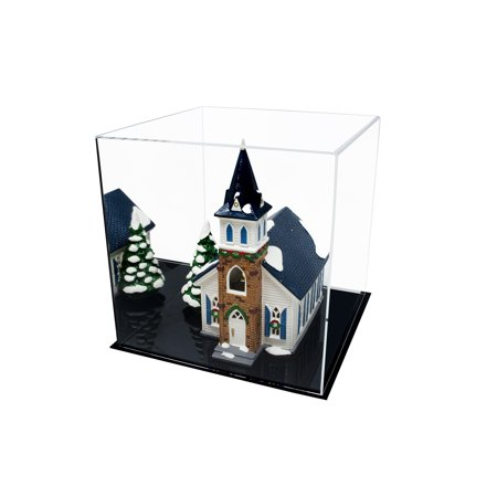 (Versatile Acrylic Mirrored Display Case, Cube, Dust Cover or Riser 12