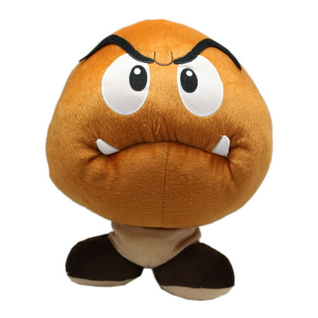 Large Tom - Super Mario Bros. Goomba Large Plush Toy With Secret Zipper Pocket (15in)