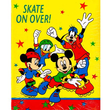 Mickey Mouse Vintage Roller Party Invitations W Envelopes 8ct