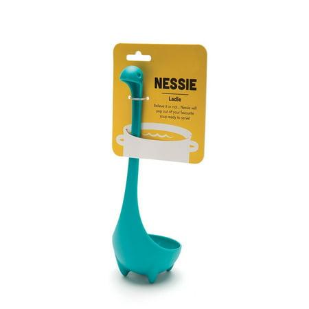 FeelGlad Nessie Ladle, Dinosaur Long Handle Soup Spoon, Kitchen Cooking Accessories Gadgets, Blue