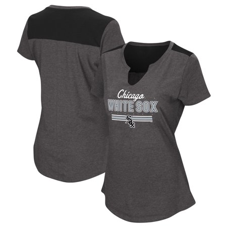 Women's Majestic Black Chicago White Sox Plus Size Switch Hitter T-Shirt ()