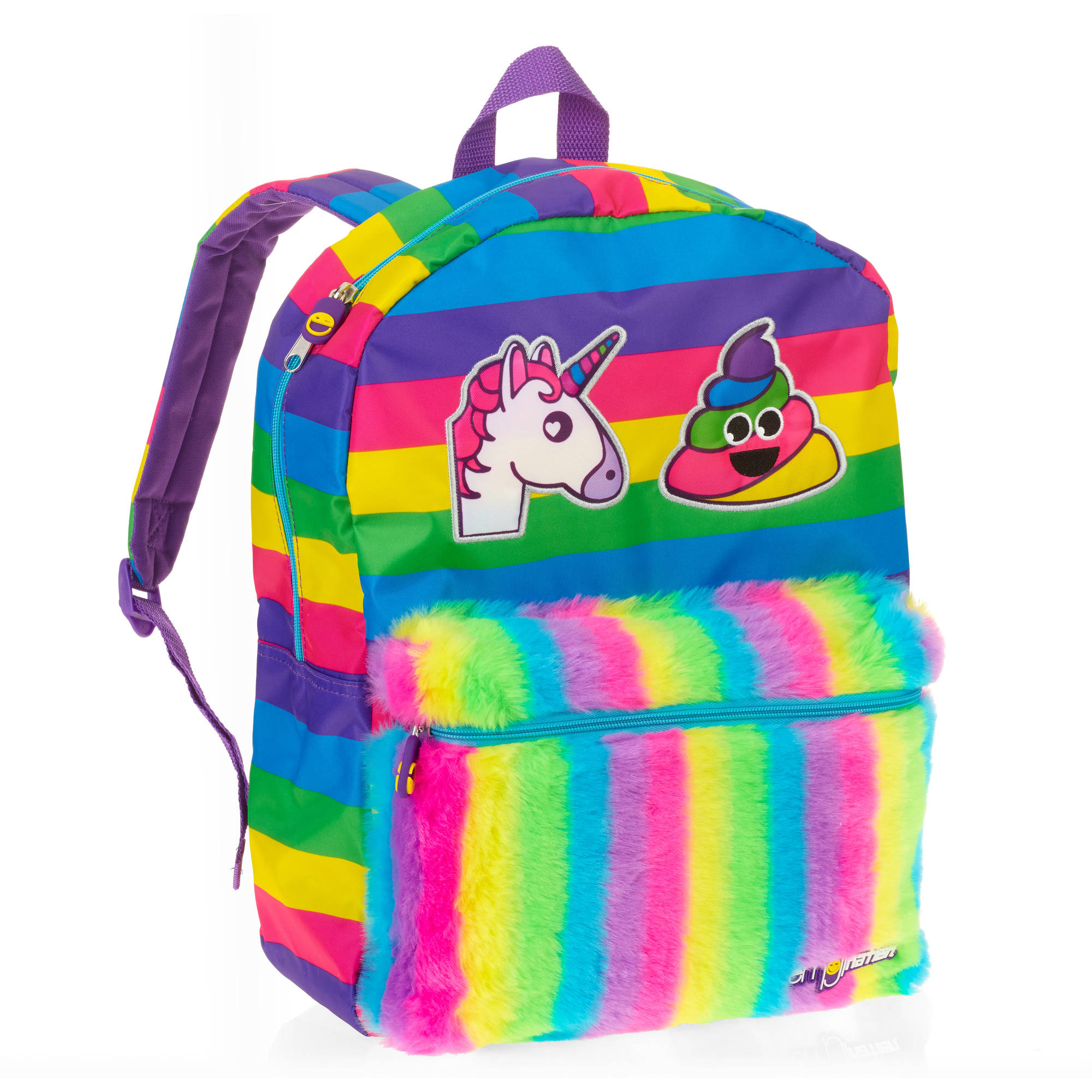 emojination unicorn poop plush backpack walmart