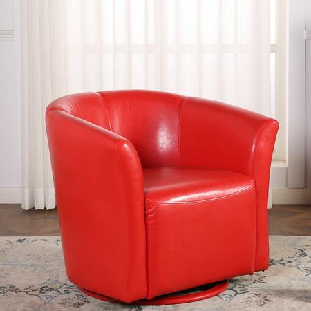 Belleze Round Swivel Base Modern Style Barrel Cushion