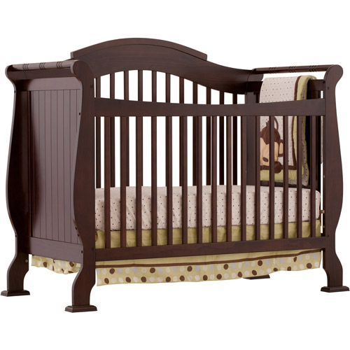 Storkcraft - Valentia Fixed Side 4-in-1  Convertible Crib, Espresso