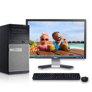 "Dell Optiplex 390 Windows 10 Pro Desktop PC Tower Core i3 3.1GHz Processor 8GB RAM 1TB Hard Drive DVD-RW Wifi with a 19"" LCD-Refurbished Computer"