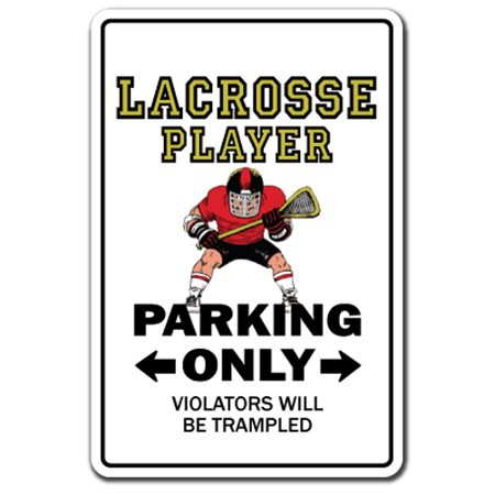 Lacrosse Player [3 Pack] of Vinyl Decal Stickers | Indoor/Outdoor | Funny decoration for Laptop, Car, Garage , Bedroom, Offices | SignMission (Lacrosse Decorations)