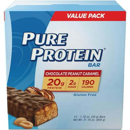 Pure Protein Bar, Chocolate Peanut Caramel, 20g Protein, 12