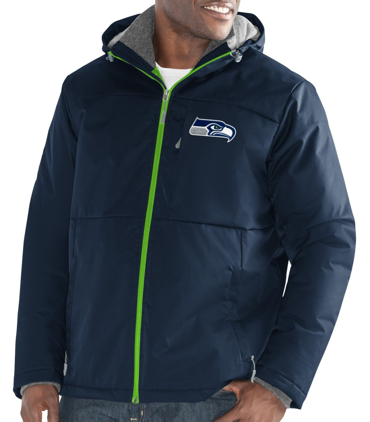 "Seattle Seahawks Men's NFL G-III ""Points"" Full Zip Polyfill Dobby Jacket by G-III Sports"