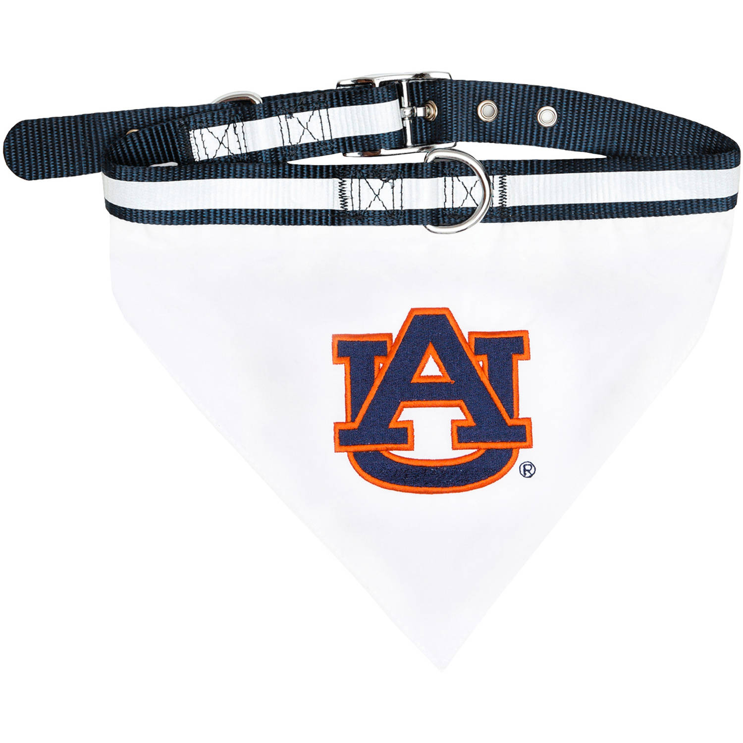 Pets First College Auburn Tigers Pet Bandana, 3 Sizes Available with Collar