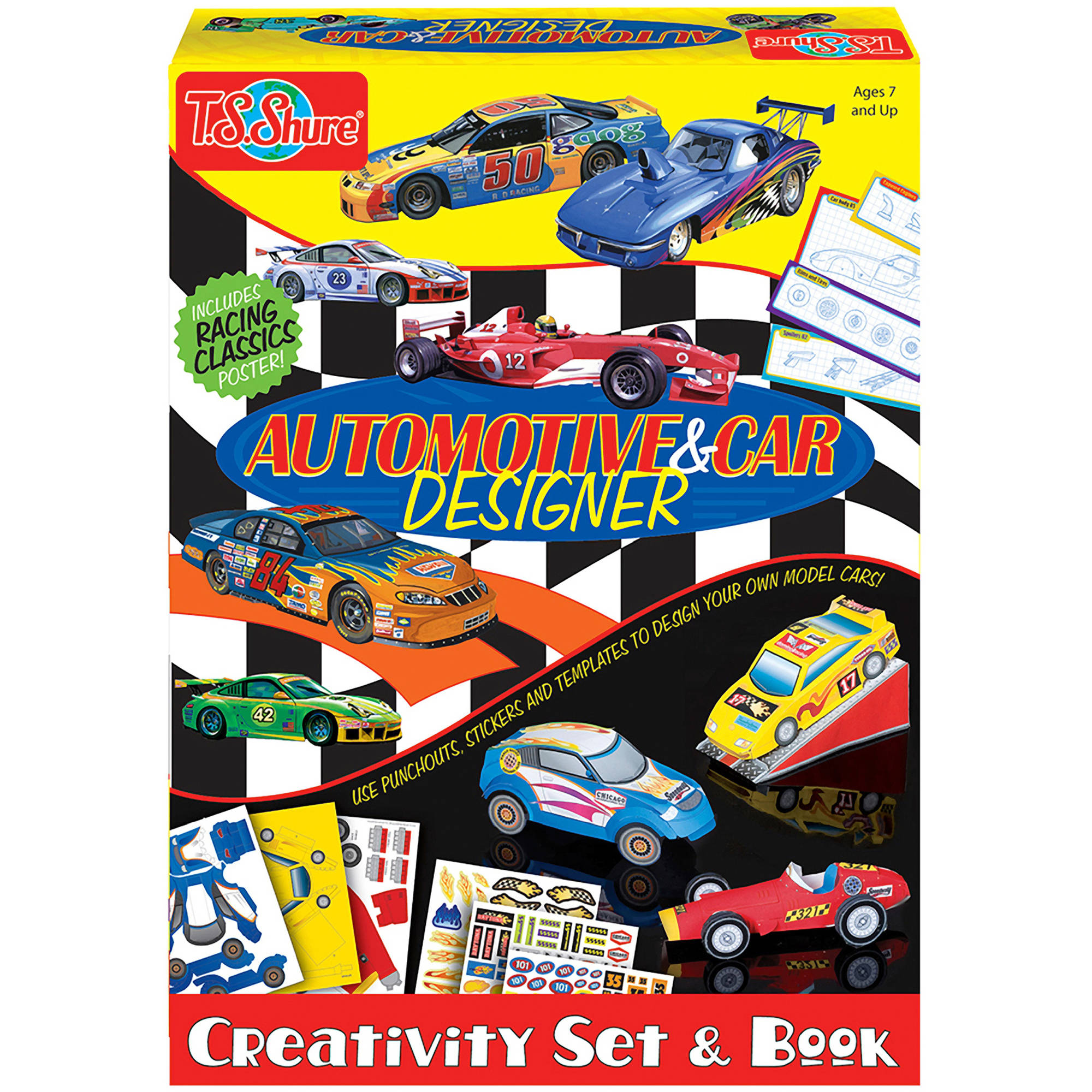 T.S. Shure Automotive and Car Designer Creativity Set and Book