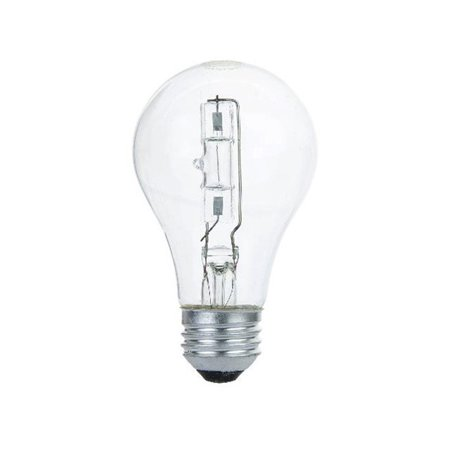 sunlite 72w a19 clear halogen energy saving light bulb. Black Bedroom Furniture Sets. Home Design Ideas