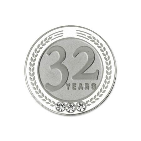 PinMart's 32 Years of Service Award Employee Recognition Gift Lapel Pin - - Employee Recognition Gifts