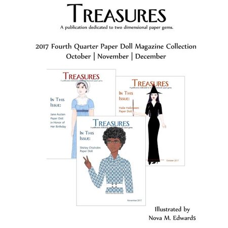 Treasures 2017 4th Quarter Paper Doll Magazine Collection: October-November-December