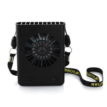 Powshop Portable Necklace Multi-functional Rechargeable Mini Fan 3 Speeds Fan & (Fan Necklace)