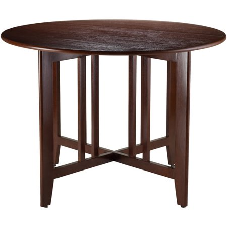 """Alamo 42"""" Round Double Drop Leaf Table, Espresso"""
