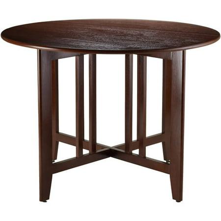 Alamo 42  Round Double Drop Leaf Table  Espresso
