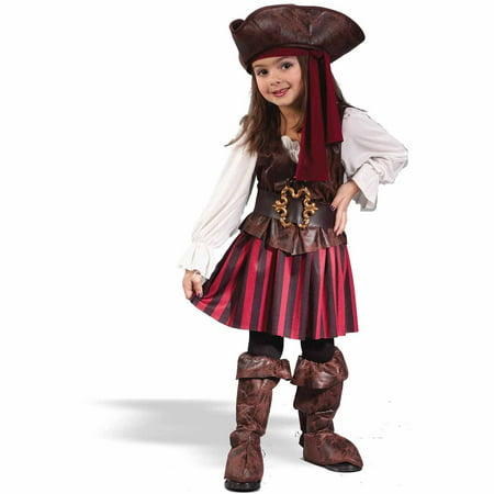 Toddler Girls Halloween Costumes (High Seas Buccaneer Girl Toddler Halloween)