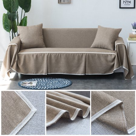 Hommoo Cotton Linen Blend Sofa Slipcover, 3 Seaters Couch Covers for  Sofa-Sofa Covers for Living Room,Couch Covers for Dogs, Sofa  Slipcover,Couch ...