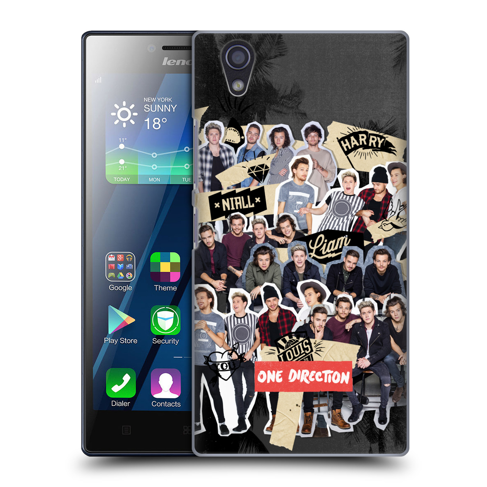 OFFICIAL ONE DIRECTION FAN ART DESIGNS HARD BACK CASE FOR LENOVO PHONES