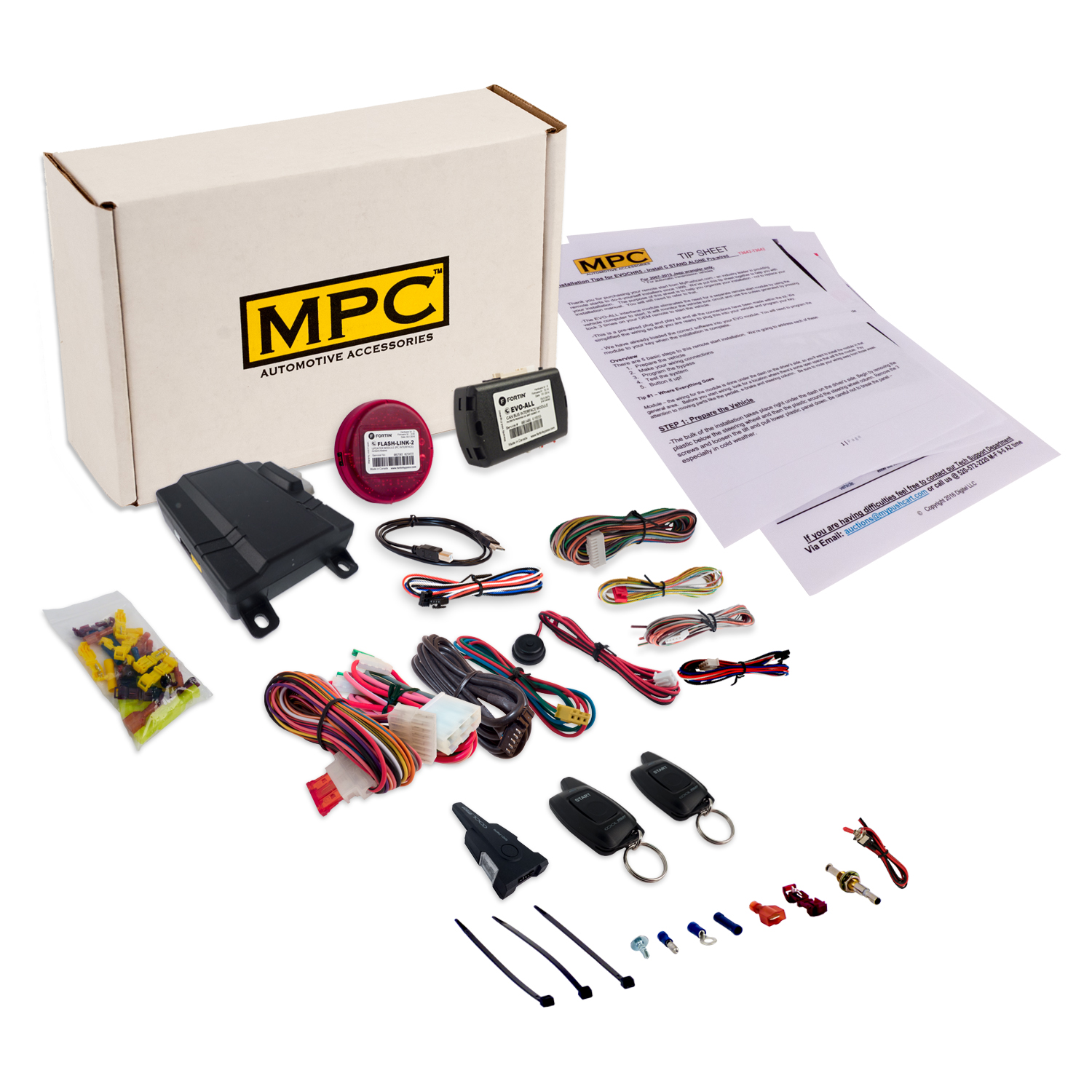 MPC Complete 1-Button 2 Way Remote Start Kit: 2014-2017 P...