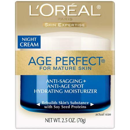 L'Oreal Age Perfect for Mature Skin Night Cream, 2.5 oz Each