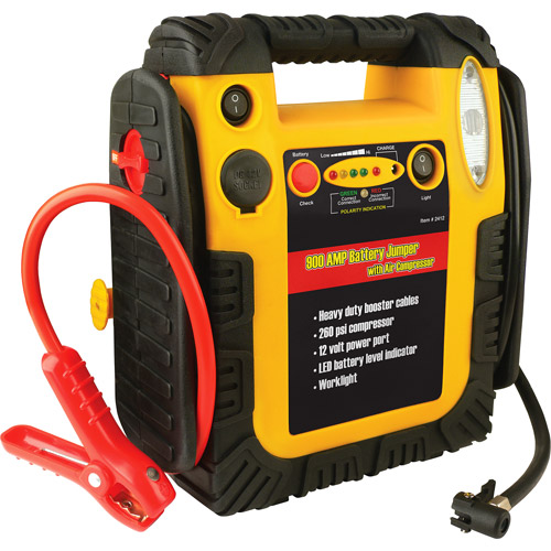 Wagan 900 Amp Battery Jumper with Air Compressor