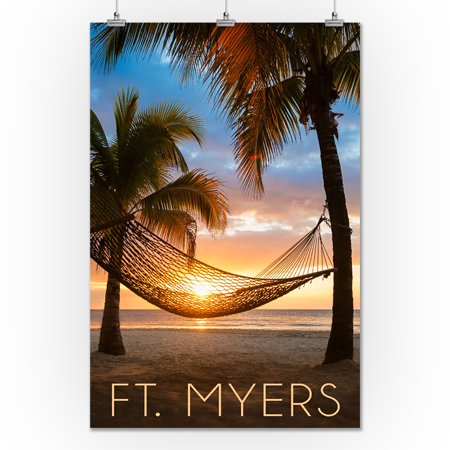 Ft Myers Florida Hammock Sunset Lantern Press Photography 24x36 Giclee Gallery Print