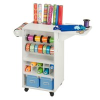 Honey Can Do Craft Storage Cart with 3 Drawers and Rollers, White